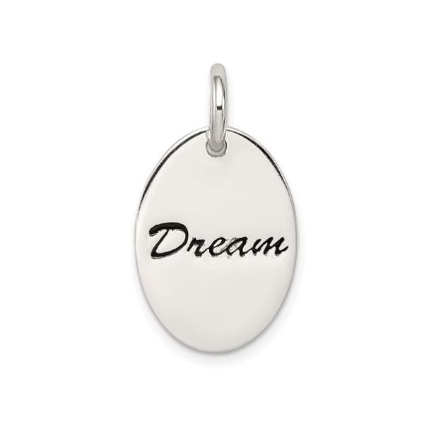 Sterling Silver Polished Enamel Dream Pendant Pineforest Jewelry, Inc. Houston, TX