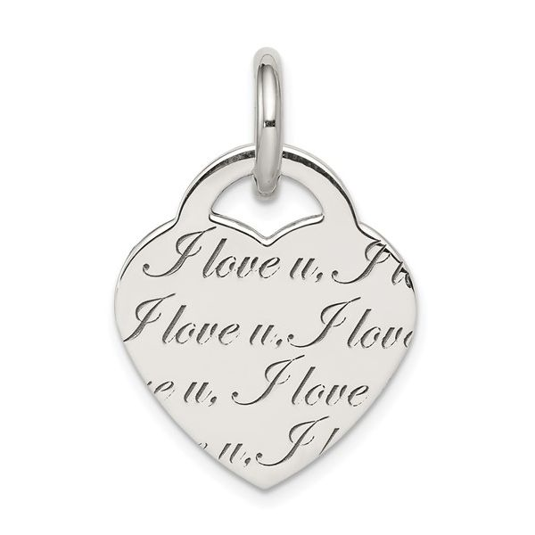 Sterling Silver Engraved Heart Pendant Pineforest Jewelry, Inc. Houston, TX