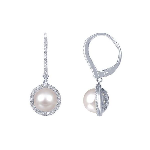 SS Pearl Dangle Earring Pair Pineforest Jewelry, Inc. Houston, TX