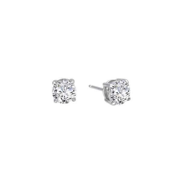 Sterling Silver CZ Earring Pair Pineforest Jewelry, Inc. Houston, TX