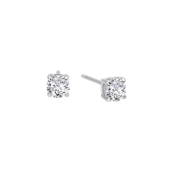 SS Lafonn Lassaire Round Solitaire Stud Earring Pair Pineforest Jewelry, Inc. Houston, TX