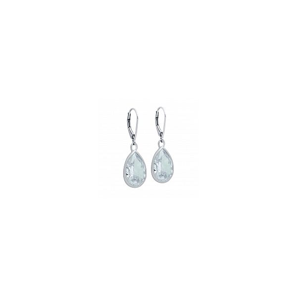 SS Pear-Shaped CZ Dangle Earring Pair Pineforest Jewelry, Inc. Houston, TX