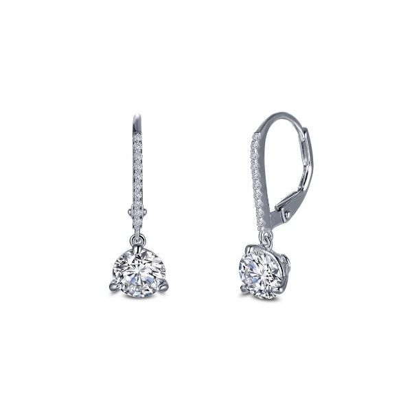 SS Lafonn Lassaire Martini-Set Round Solitaire Dangle Earrings Pineforest Jewelry, Inc. Houston, TX