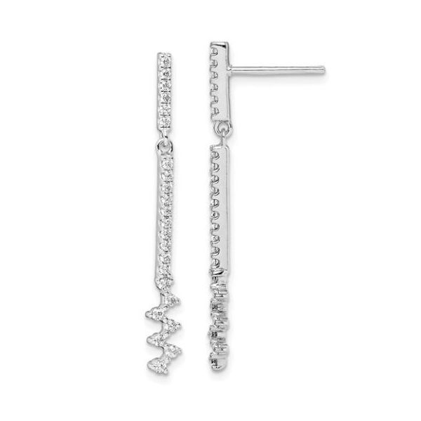 Sterling Silver CZ Dangle Earring Pair Pineforest Jewelry, Inc. Houston, TX