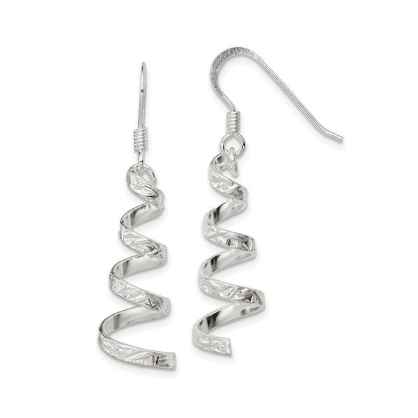 Sterling Silver Twist Dangle Earring Pair Pineforest Jewelry, Inc. Houston, TX