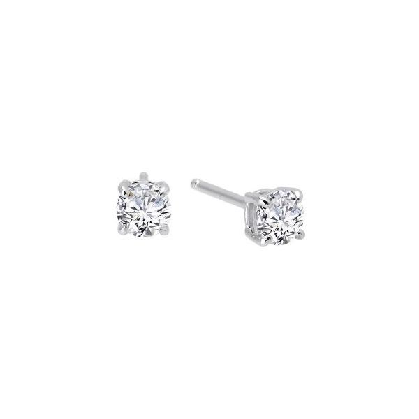 SS Lafonn Lassaire Round Solitaire Earring Pair Pineforest Jewelry, Inc. Houston, TX