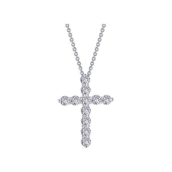 SS CZ Cross Necklace Pineforest Jewelry, Inc. Houston, TX