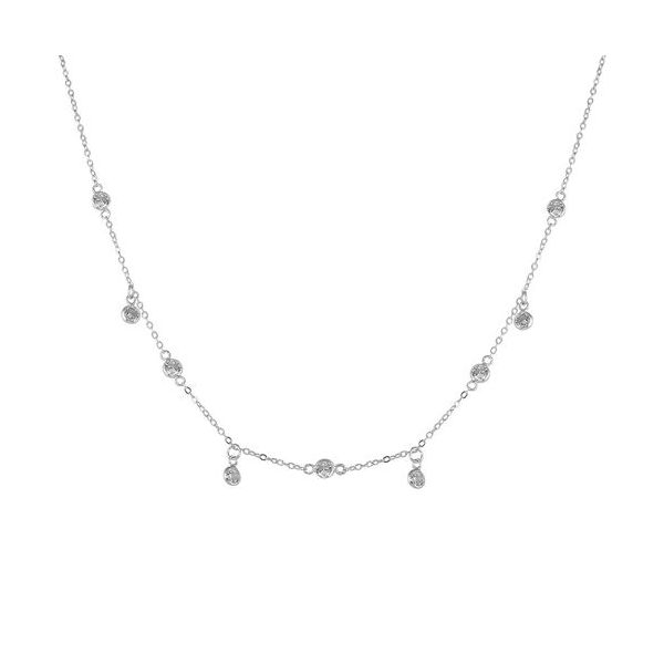 SS Radiance CZ Station Necklace Pineforest Jewelry, Inc. Houston, TX