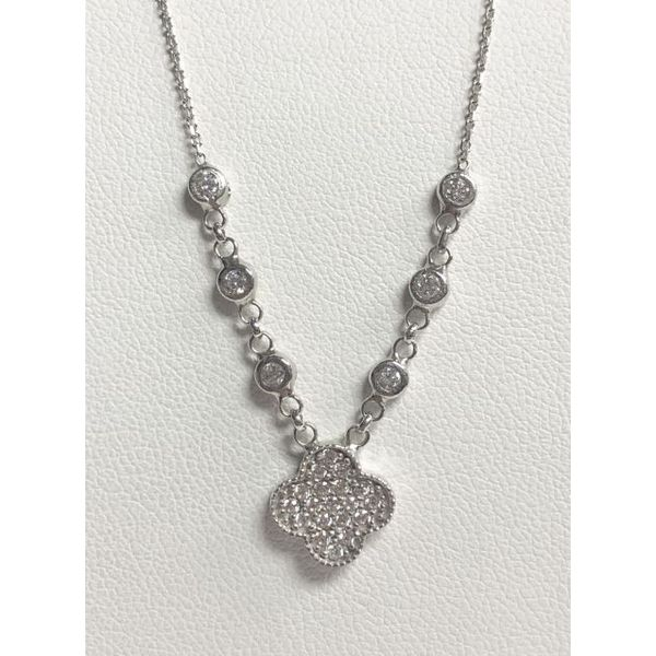 SS Radiance CZ Clover Necklace Pineforest Jewelry, Inc. Houston, TX