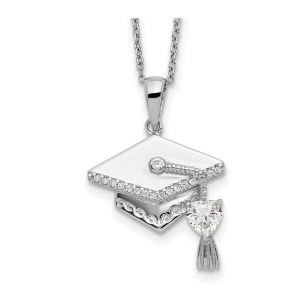 Sterling Silver Graduation Necklace Pineforest Jewelry, Inc. Houston, TX