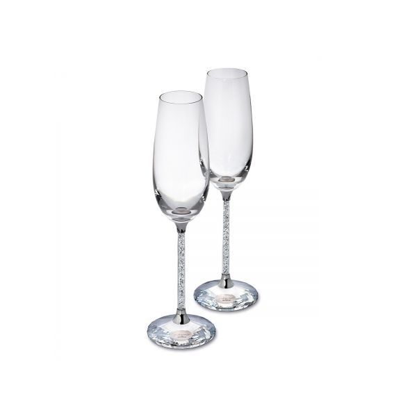 Pair of Sterling and Crystal champagne Flutes Pineforest Jewelry, Inc. Houston, TX