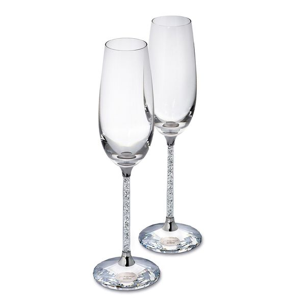 Crystalline Stem Champagne Flutes Pineforest Jewelry, Inc. Houston, TX