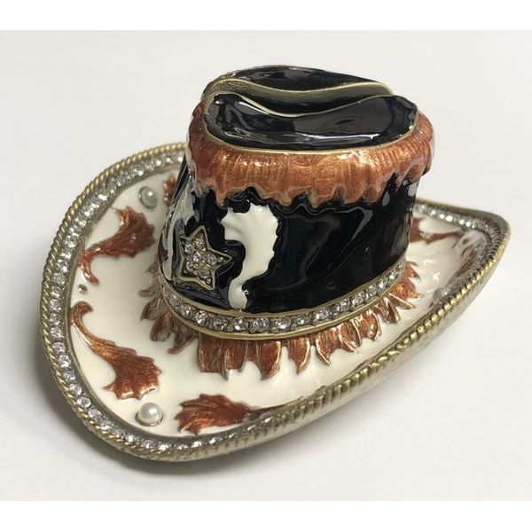 Cowboy Hat card holder with Swarovski Crystals Pineforest Jewelry, Inc. Houston, TX