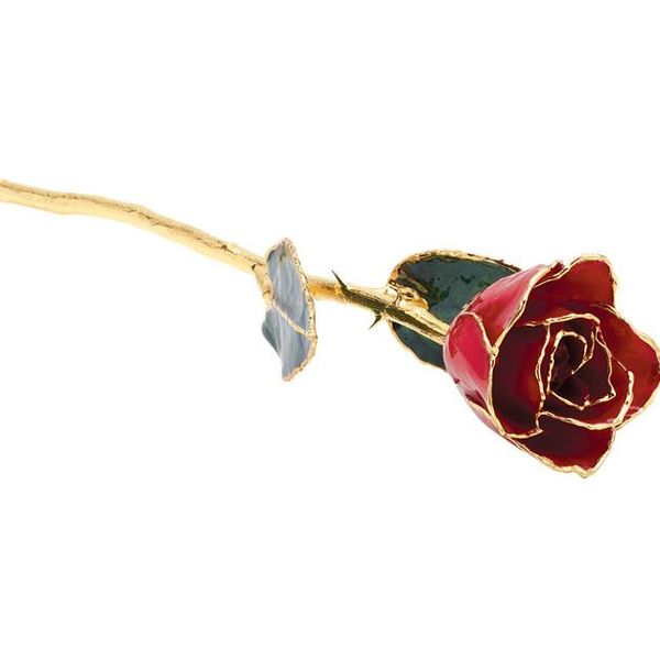 Red Rose With 24K Gold Trim Pineforest Jewelry, Inc. Houston, TX