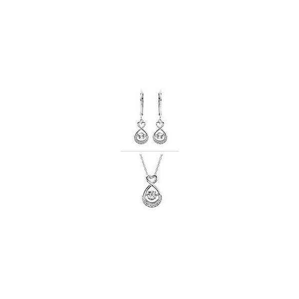 SS Shimmering Diamonds Necklace & Earring Set Pineforest Jewelry, Inc. Houston, TX