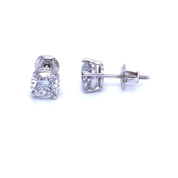 Diamond Stud Earrings Image 2 P.J. Rossi Jewelers Lauderdale-By-The-Sea, FL