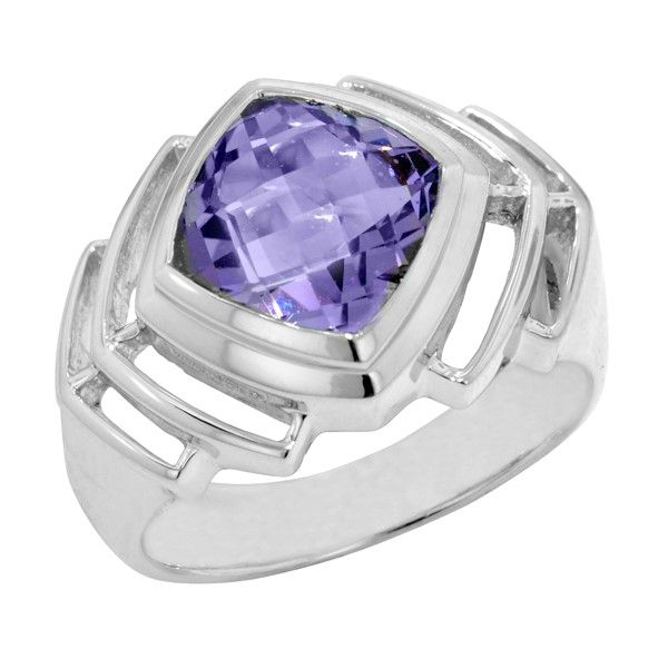 Silver Gemstone Ring P.J. Rossi Jewelers Lauderdale-By-The-Sea, FL
