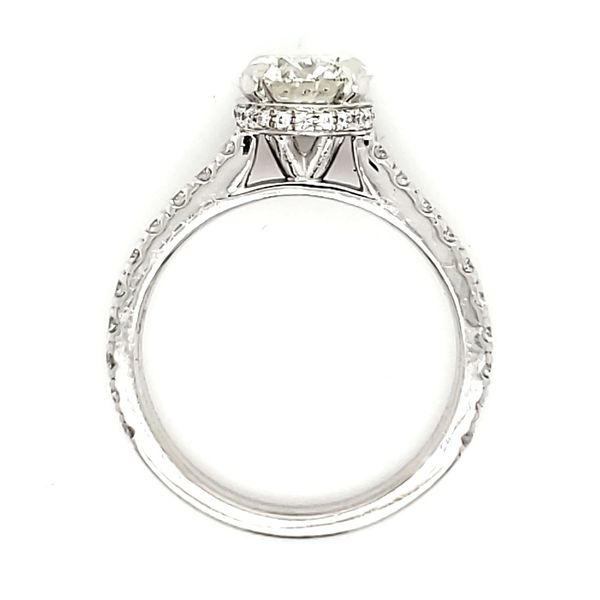 Platinum Hidden Halo 1.28 Carat Diamond Engagement Ring Image 3 Quality Gem, LLC Bethel, CT