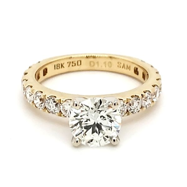 18K Yellow Gold 1.43 Carat Round Brilliant Diamond Engagement Ring Quality Gem, LLC Bethel, CT