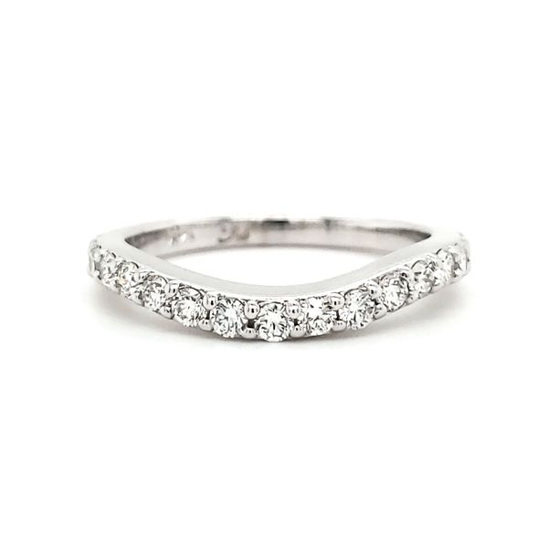 14K White Gold Common Prong Curved Diamond Band Quality Gem, LLC Bethel, CT