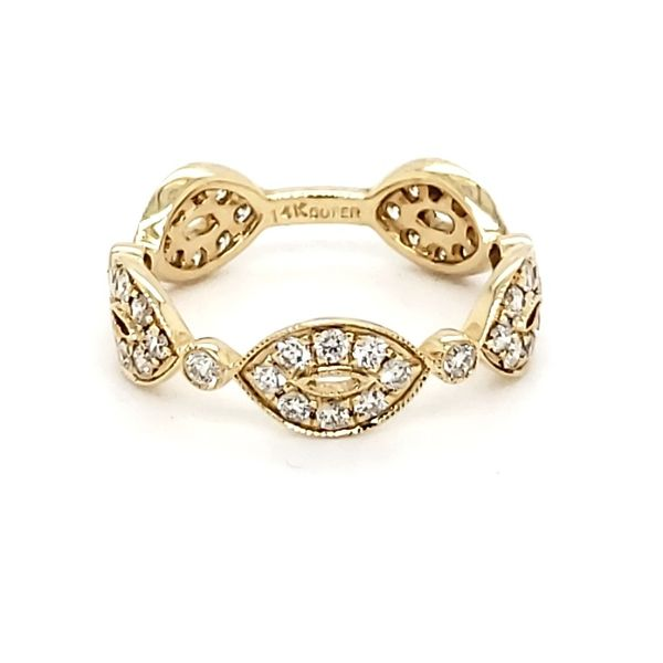 14K Yellow Gold Scalloped Diamond Fashion Band Quality Gem, LLC Bethel, CT