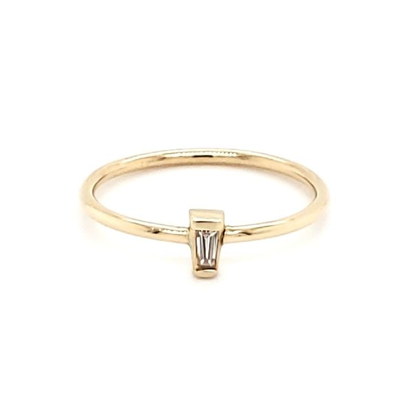 14K Rose Gold Diamond Baguette Stackable Fashion Ring Quality Gem, LLC Bethel, CT