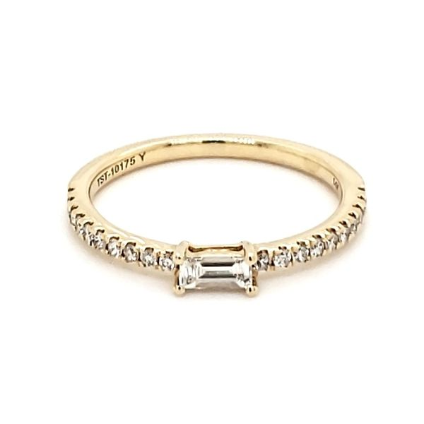 14K Yellow Gold Baguette Diamond Stackable Fashion Band Quality Gem, LLC Bethel, CT