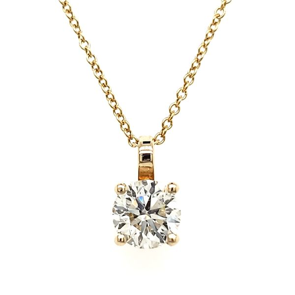 14K Yellow Gold Single Diamond Pendant Quality Gem, LLC Bethel, CT
