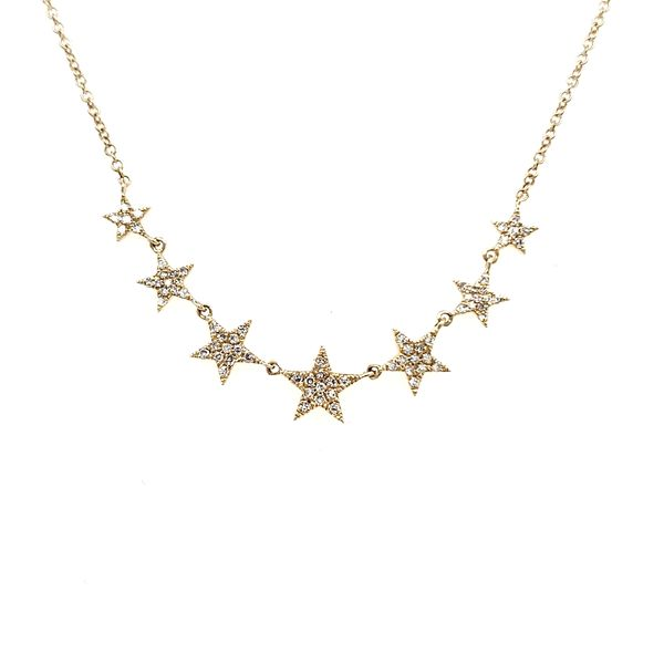 14K Yellow Gold Seven Star Diamond Necklace Quality Gem, LLC Bethel, CT