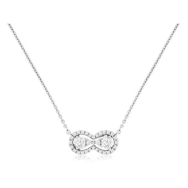14K White Gold Diamond Infinity Necklace Quality Gem LLC Bethel, CT