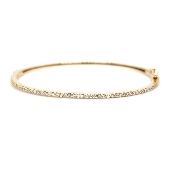 14K Yellow Gold Diamond Bangle Bracelet Quality Gem, LLC Bethel, CT