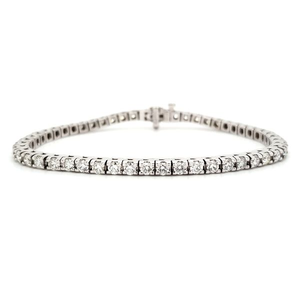 14K White Gold Classic Diamond Tennis Bracelet Image 2 Quality Gem, LLC Bethel, CT