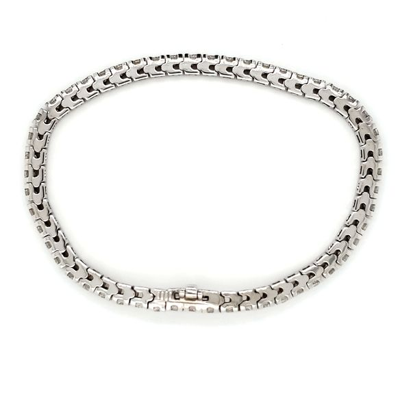 14K White Gold Classic Diamond Tennis Bracelet Image 3 Quality Gem, LLC Bethel, CT