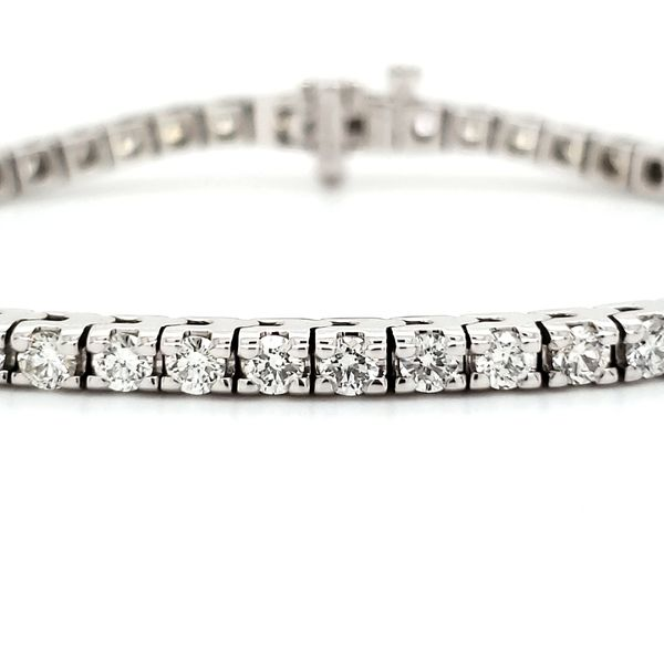 14K White Gold Classic Diamond Tennis Bracelet Quality Gem, LLC Bethel, CT