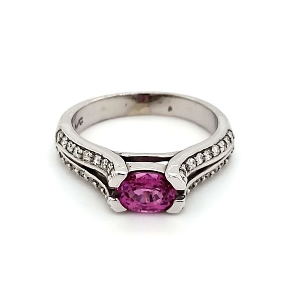 14K White Gold Pink Sapphire & Diamond Ring Quality Gem, LLC Bethel, CT