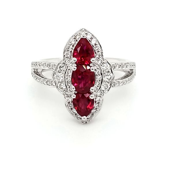 18K White Gold Ruby & Diamond Ring Quality Gem, LLC Bethel, CT