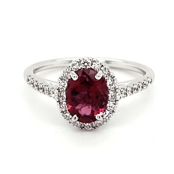 14K White Gold Pink Tourmaline& Diamond Ring Quality Gem, LLC Bethel, CT