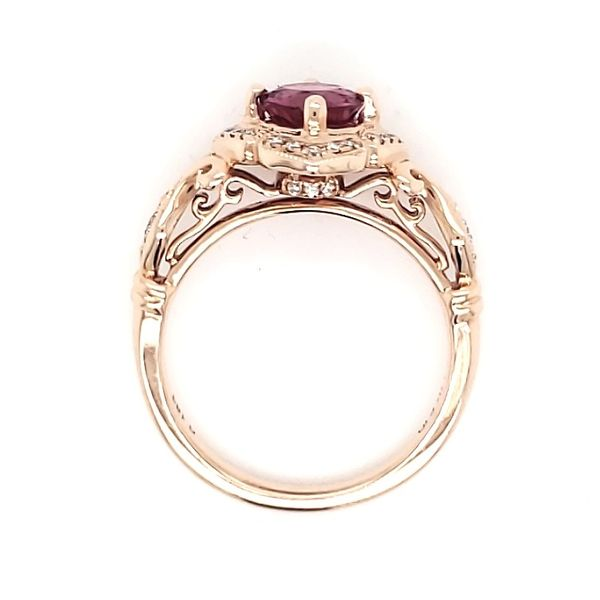 14K Rose Gold Pink Tourmaline & Diamond Ring Image 4 Quality Gem, LLC Bethel, CT