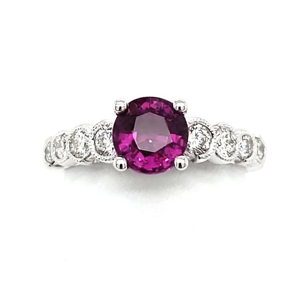 14K White Gold Pink Tourmaline & Diamond Ring Quality Gem, LLC Bethel, CT