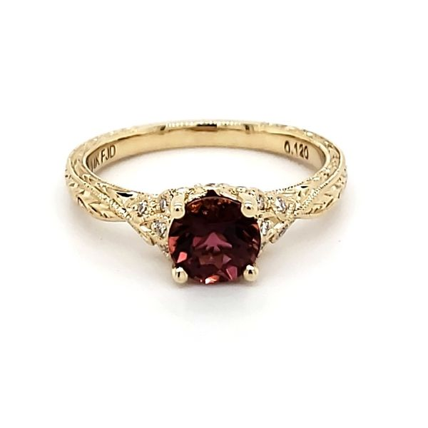 14K Yellow Gold Pink Tourmaline & Diamond Ring Quality Gem, LLC Bethel, CT