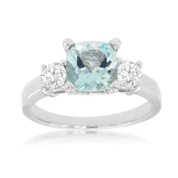 14K White Gold Aquamarine & Diamond Ring Quality Gem, LLC Bethel, CT