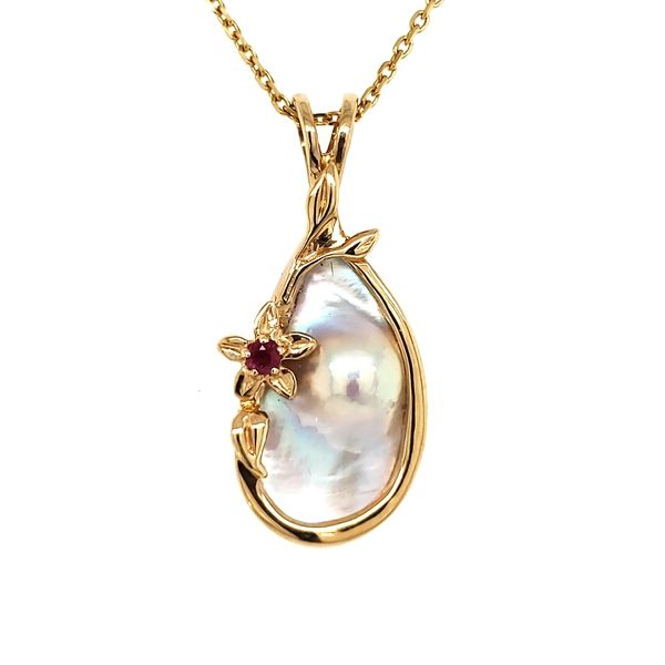 14K Yellow Gold Blister Pearl Pendant Quality Gem, LLC Bethel, CT