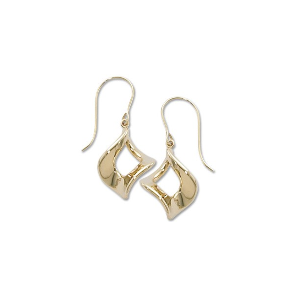 14K Yellow Gold Marquis Twist Dangle Earrings Quality Gem, LLC Bethel, CT