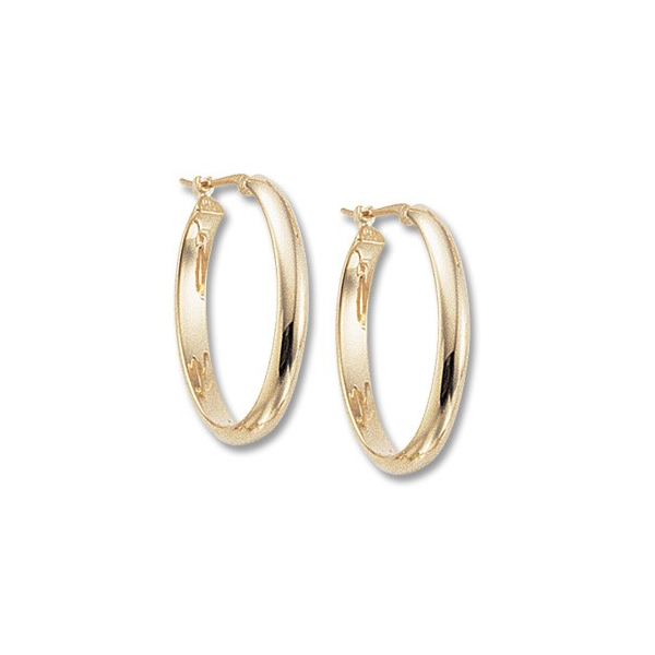 14K Yellow Gold Half Round Tube Hoop Earrings Quality Gem, LLC Bethel, CT