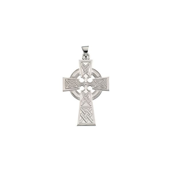 14K White Gold Celtic Cross Pendant Quality Gem LLC Bethel, CT