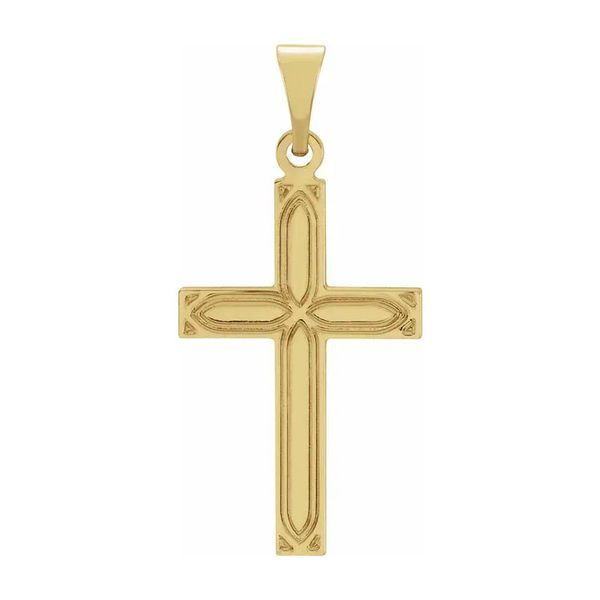 14K Yellow Gold Cross Pendant Quality Gem, LLC Bethel, CT