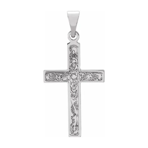 14K White Gold Cross Pendant Quality Gem, LLC Bethel, CT