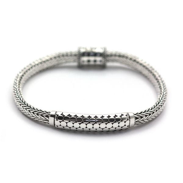 Sterling Silver Oxidized Bali Bola Bar Bracelet Quality Gem, LLC Bethel, CT