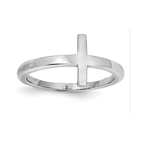 Sterling Silver Sideways Cross Ring Quality Gem LLC Bethel, CT