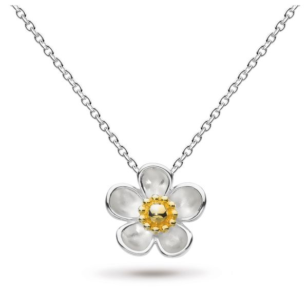 Sterling Silver & 18K Yellow Gold Plate Blossom Necklace Quality Gem, LLC Bethel, CT